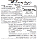 June issue of missouri missionary baptist paper