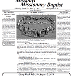 Missouri Missionary Baptist Paper July 2019