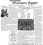 August Issue Missouri Missionary Baptist Paper