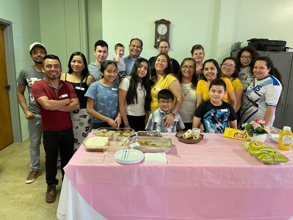 The Hispanics who attended the first ESL Class Fellowship at Bethany